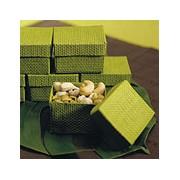 Organic Green 2 Piece Woven Favor Boxes