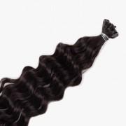 Rapunzel® Hair extensions Bondings Original Lockig 1.2 Black Brown 40 cm
