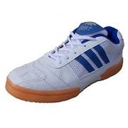 Port Men's Zebra White Blue Pu Badminton Sports Shoe