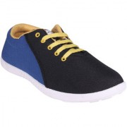World WEAR Footwear Men Black Blue Lace-up Casual Shoes For Men