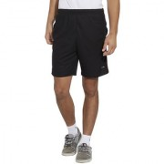 BONATY Black Polyester With Moisture Management Solid Short With Side Piping For Men