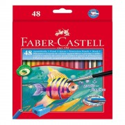 Creioane colorate acuarela Faber-Castell 48 culori + pensula