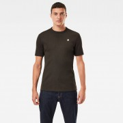 G-star RAW Hommes T-shirt Plated Rib Slim Ringer Noir