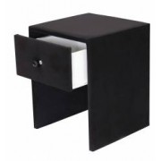 Noptiera Imbracata in Piele Eco cu 1 Sertar Model Viena8 Culoare Negru
