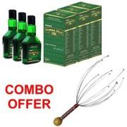 Deemark New Herbal Hair Oil Combo (2+1) WITH BOKOMO AS FREEBIE