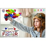 Ratna's Toyztrend Sky Fighter Junior Colorful Interlocking Blocks For Kids Ages 3+ To Create Fighter Planes & Rule The Sky