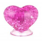 3D DIY Puzzle Jigsaw Ornamento En Forma De Corazon De Cristal (46 Piezas), Tamaño: Acerca De 7 X 8 Cm (rosa)
