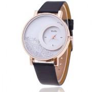 i DIVA'S Women Designer Diamond Black Fancy Watches