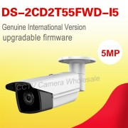 Free shipping English version DS-2CD2T55FWD-I5 5MP Network Bullet IP security camera POE sd card recording, 50m IR , H.165+