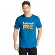 Timberland T-shirt Cotton Core Timberland Pro® Pour Homme Bleu Sarcelle, Taille M