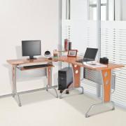 4, Farben HOMCOM® Eck-Computertisch PC Tisch Winkeltisch Schreibtisch