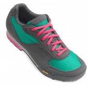 Giro Petra Women's MTB Cycling Shoes - Turquoise/Bright Pink - EU 38/UK 5 - Blue