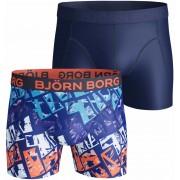 Bjorn Borg Boxershorts 2-Pack Microfiber - Dunkelblau S