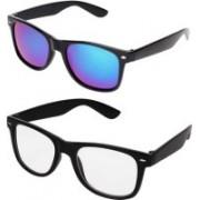 John Dior Wayfarer, Wayfarer Sunglasses(Blue, Clear)