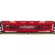 Ballistix Sport LT - DDR4 - 16 Go - DIMM 288 broches - 2400 MHz / PC4-19200 - CL16 - 1.2 V - mémoire sans tampon - non ECC - rouge