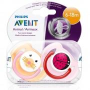 Avent Philips® Avent Freeflow Beruhigungssauger Tiermotive 6-18 Monate