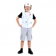 Fantasia Infantil - Peitoral Médico - Tamanho Único (3 a 6 anos) - 72104 - Sulamericana