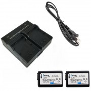 Ismartdigi FW50 baterias para camaras digitales + cargador doble - negro