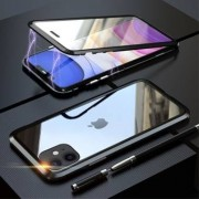 Apple LUPHIE Tvåsidig magnetisk adsorption Metal Frame Case för iPhone 11 6,1 tum