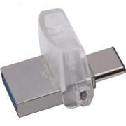 Memorie USB Kingston DataTraveler MicroDuo 3C, 32GB. USB 3.1, USB Type-C, Gri