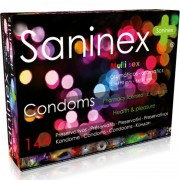 Saninex multisex preservativos 144 uds