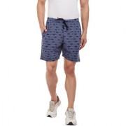 Vimal-Jonney Navy Blue Torn Look Shorts For Men