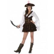 Disfraz de pirata mujer marrón L