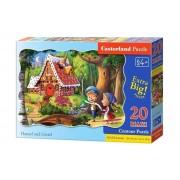 Puzzle maxi Hansel si Gretel, 20 piese