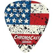 ChromaCast CC-DP-USA-60-10PK USA Flag Delrin Guitar Picks .60mm Light Dura 10 Pack