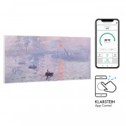 Klarstein Wonderwall Air Art Smart, инфрачервен нагревател, 120 х 60 см, 700 W, приложение, изгрев (HTR10-WdwlS700wSnris)