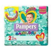 FATER SpA Pampers Baby Dry recuento descendente No flash Mini Medida 2 (3-6kg) 24 Panales