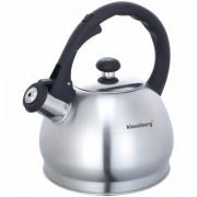 Свирещ чайник Klausberg KB 7042/3773, 1.8 литра, Неръждаема стомана, Индукция, Инокс