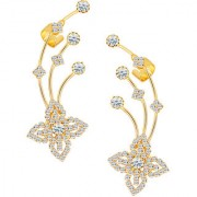 Sikka Jewels Moddish Gold Plated Australian Diamond Earcuff