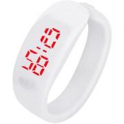 Brandedking colorful Bangle Digital LED watch White