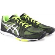 Asics Gel-Ds Trainer 20 Men Training & Gym Shoes For Men(Black, Green)