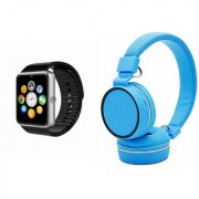 Zemini GT08 Smart Watch and SH 10 Bluetooth Headphone for LG OPTIMUS L7 II(GT08 Smart Watch with 4G sim card camera memory card |SH 10 Bluetooth Headphone )
