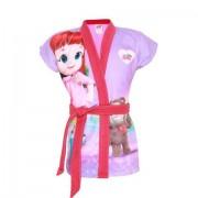 Roupao Infantil Lepper -Aveludado Verao Rainbow Ruby Rosa M