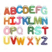 Yosoo Fun Colorful Magnetic Letters Stickers A-Z Alphabet Letter Wooden Cartoon Refrigerator Fridge Magnets Kids...