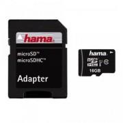 Card Hama Micro SDHC 16GB Clasa 10 cu adaptor SD