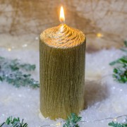 Lumanare AURIE cilindru 13 cm