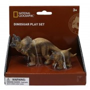 SET 2 FIGURINE - TRICERATOPS - NATIONAL GEOGRAPHIC (NTS01028)