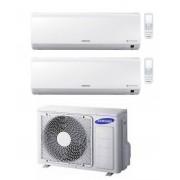 Samsung Climatizzatore Condizionatore Dual Split Samsung 7+7 7000+7000 New Style A++ Aj040mcj2eh