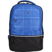 Tommy Hilfiger Biker Club Atlas 21.6 L Medium Laptop Backpack(Blue, Black)