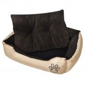 vidaXL Pat cald pentru câini, cu pernă căptușită, XL