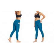 "Women's Bally Total Fitness Bally Fitness High Rise Pocket Ankle Legging 25"""" XL Ink Blue"