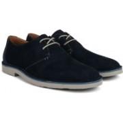 Clarks Jareth Walk Navy Suede Sneakers For Men(Navy)