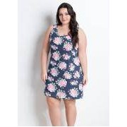Camisola Regata Floral Plus Size
