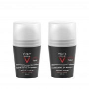 VICHY Homme Deodorant antiperspirant roll-on impotriva transpiratiei excessive 72h 2x 50 ml