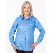 Seniors' Wear Blue Diamonds Blouse