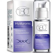 180 COSMETICS BEAUTY IS TIMELESS Hyaluronic Acid Serum for Face 180 Cosmetics Face Lift Skin Serum for Face and Eyes Pure Hyaluronic Acid For Immediate Results Hydrating Anti Aging Anti Wrinkle